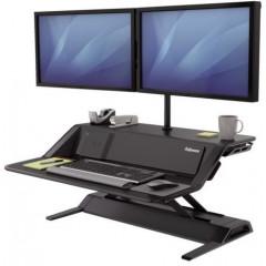 Werkstation Fellowes Lotus DX Zit-Sta zwart exclusief monitorarmen