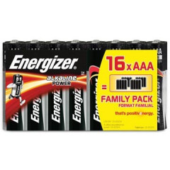 Batterij Energizer Alkaline Power AAA family pack (16)