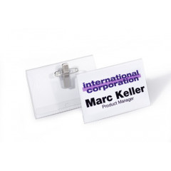 Badge Durable 40x75mm met combiklem (50)