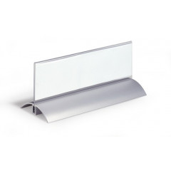 Tafelnaambord Durable De Luxe aluminium/acryl 61x210mm (2)