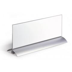 Tafelnaambord Durable De Luxe aluminium/acryl 105x297mm (D820319)