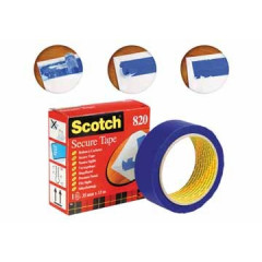 Plakband Scotch Secure Tape 35mmx33m blauw