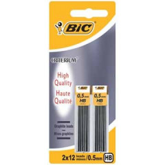 Potloodstift Bic Criterium HB 0,5mm blister (2x12)