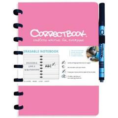 Schrift Correctbook A5 gelijnd herbruikbaar roze