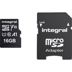 Geheugenkaart Integral MicroSDHC 16GB