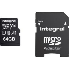 Geheugenkaart Integral MicroSDXC 64GB