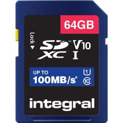Geheugenkaart Integral SDXC 64GB