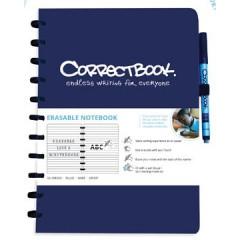 Schrift Correctbook A4 gelijnd herbruikbaar blauw