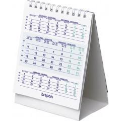 Bureaukalender Brepols 105x130mm verticaal 2021