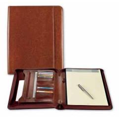 Schrijfmap Brepols palermo luxe 27x33cm bruin