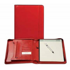 Schrijfmap Brepols palermo luxe 27x33cm rood