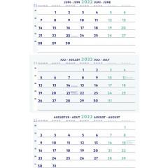 Driemaandskalender Brepols 300x600mm 2022