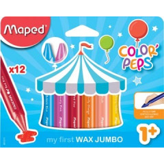 Waskrijt Maped Color'Peps Early Age assorti (12)