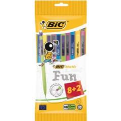 Vulpotlood Bic Matic Fun 0,7mm wegwerp assorti 8+2 gratis