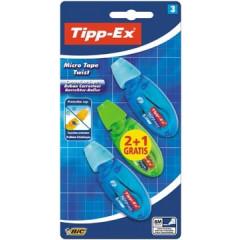 Correctieroller Tipp-ex micro tape twist assorti (2+1)