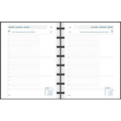 Agenda Adoc Agend-ex Largo Polypro 163x210mm zwart 2021 1 dag/pagina
