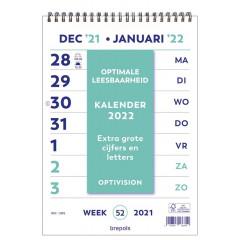 Kalender Brepols Optivision 210x297mm 2022