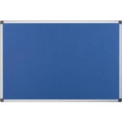 Textielbord Pergamy 90x120cm met aluminium frame blauw