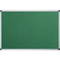 Textielbord Pergamy 90x120cm met aluminium frame groen