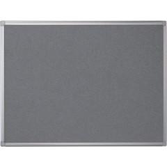 Textielbord Pergamy 90x120cm met aluminium frame grijs