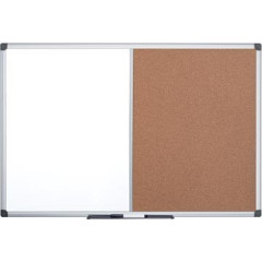 Combibord Pergamy 90x120cm kurk en magnetisch whiteboard