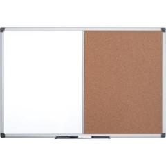 Combibord Pergamy 60x90cm kurk en magnetisch whiteboard