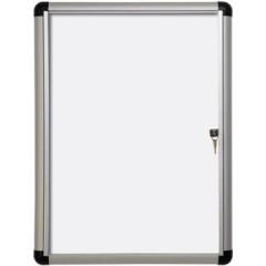 Vitrine Pergamy Excellence Extra Slim glas 4xA4 magnetisch
