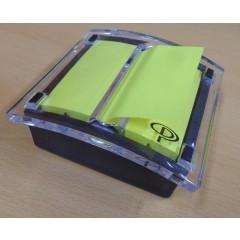 Z-notes Pergamy 76x76mm neon geel met dispenser
