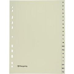 Tabbladen Pergamy karton A4 A-Z 11-gaats beige