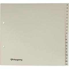 Tabbladen Pergamy karton 21x23cm A-Z 2-gaats gems
