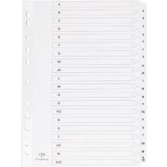 Tabbladen Pergamy karton A4 A-Z 11-gaats wit