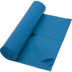 Vuilniszak met zijvouw, ft 65+ 50x135cm, 42 micron, blauw (10)