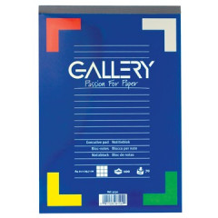 Schrijfblok Gallery geniet A4 geruit 100 vel 70gr afscheurbaar