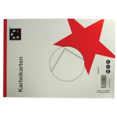 Systeemkaart STAR A8 190g blanco wit (100)