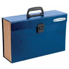 Opbergkoffer Fellowes bankers box handifile 36x23cm blauw