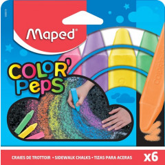 Stoepkrijt Maped Color'Peps assorti (6)