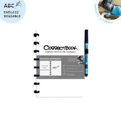 Schrift Correctbook A5 gelijnd herbruikbaar wit