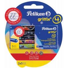 Inkpatroon Pelikan Griffix voor vulpen koningsblauw (10)