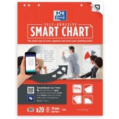 Flipchartblok Oxford Smart Chart zelfklevend 60x80cm 20vel blanco