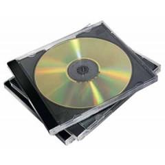 CD-doos Fellowes Jewel Case zwart/transparant (10)