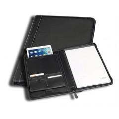 """Schrijfmap Rillstab Genève A4 met insteekvak voor tablet 10"""" zwart"""