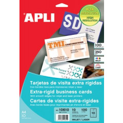 Visitekaarten Apli First Class 89x51mm 250g 10/bl inkjet/laser (10)