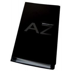 Visitekaartenmap Apli PP 27,5x12cm voor 160 kaarten zwart