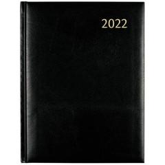 Agenda Aurora Concerto 40 Florence 215x295mm zwart 2022 1 dag/2 pagina's
