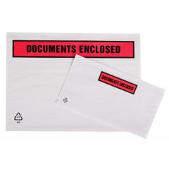 Tenzalopes zelfklevend documentenmapje 'documents enclosed', ft A4 (500)