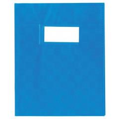 Schriftomslag PP 16,5x21cm met venster blauw
