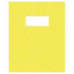 Schriftomslag PP 16,5x21cm met venster geel