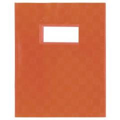 Schriftomslag PP 16,5x21cm met venster oranje