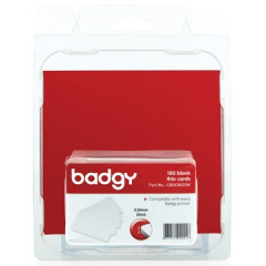Kaarten Badgy voor badgeprinter 100 en 200 54x86mm dun 0,5mm (100)