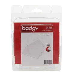 Kaarten Badgy voor badgeprinter 100 en 200 54x86mm dun 0,76mm (100)